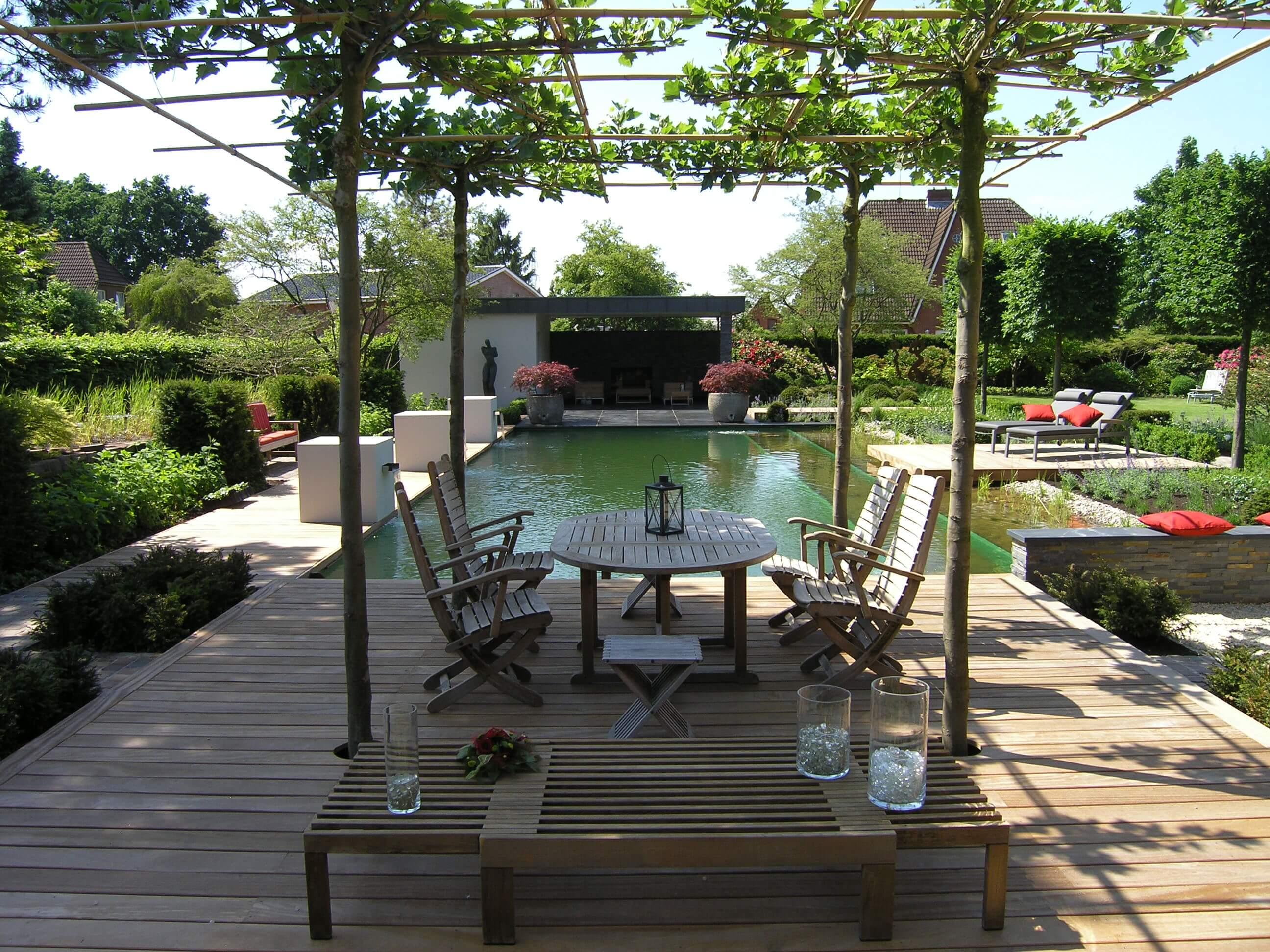 Biotop zwemvijver in particuliere tuin - Hoe aangelegde tuin ...