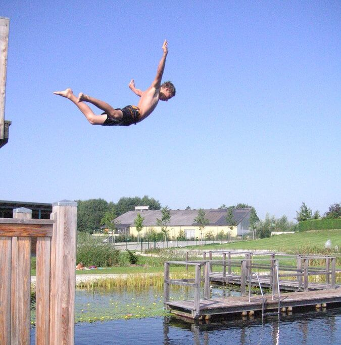 Daktuinen Dakterrassen: Openbaar Natuurzwembad Neukirchen