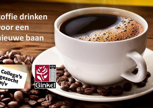 Koffie drinken voor een nieuwe baan